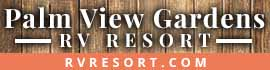 logo for Palm View Gardens RV Resort