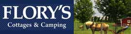 logo for Flory's Cottages & Camping