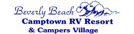 logo for Beverly Beach Camptown RV Resort & Campers Village