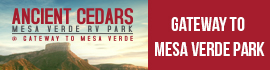 logo for Ancient Cedars Mesa Verde RV Park
