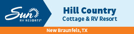logo for Hill Country Cottage and RV Resort