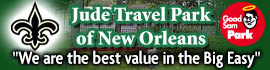 logo for Jude Travel Park of New Orleans