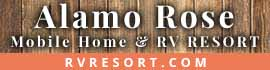 logo for Alamo Rose RV Resort