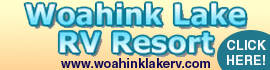 logo for Woahink Lake RV Resort