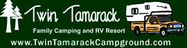 logo for Twin Tamarack Family Camping & RV Resort