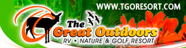 logo for The Great Outdoors RV, Nature & Golf Resort