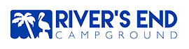 logo for River's End Campground