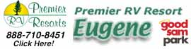 logo for Premier RV Resorts - Eugene