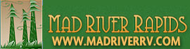 logo for Mad River Rapids RV Park