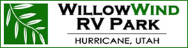 logo for WillowWind RV Park