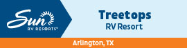 logo for Treetops RV Resort