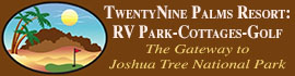 logo for TwentyNine Palms Resort RV Park and Cottages