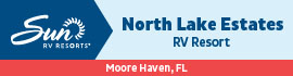 logo for North Lake Estates RV Resort
