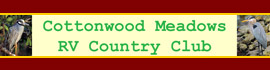 logo for Cottonwood Meadows RV Country Club