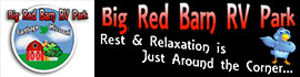 logo for Big Red Barn RV Park