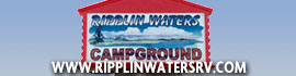 logo for Ripplin' Waters Campground & Cabin Rental
