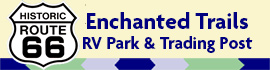 logo for Enchanted Trails RV Park & Trading Post