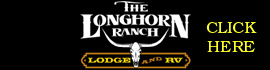 logo for The Longhorn Ranch Lodge and RV Resort