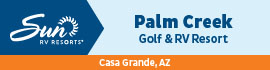 logo for Palm Creek Golf & RV Resort