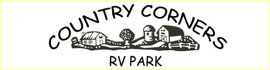 logo for Country Corners RV Park and Campground