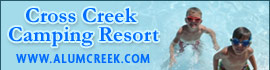 logo for Cross Creek Camping Resort