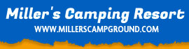 logo for Miller's Camping Resort