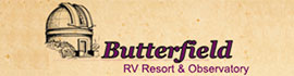 logo for Butterfield RV Resort & Observatory