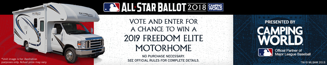 Major League Baseball All-Star Ballot: Vote and enter for a chance to win a 2019 Freedom Elite Motorhome