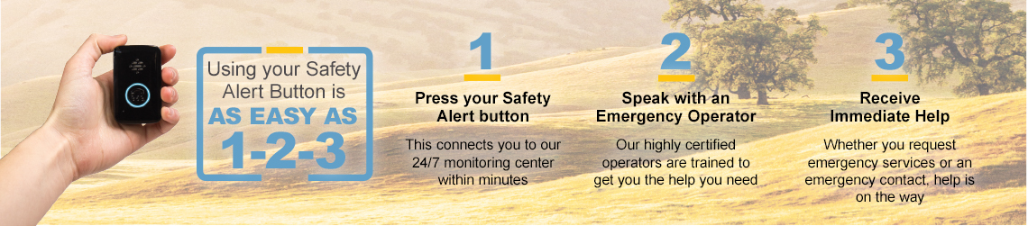 using your safety alert button is easy.