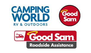 Logos for Camping World, Good Sam Club and Good Sam Roadside Assistance