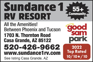 Casa Grande Arizona Rv Parks Casa Grande Campgrounds