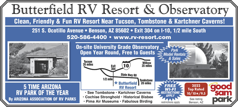 Benson arizona rv parks benson campgrounds rv camping in view websiteview publicscrutiny Image collections