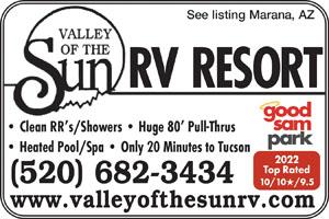Rv Parks In Tucson Arizona Tucson Arizona Campgrounds