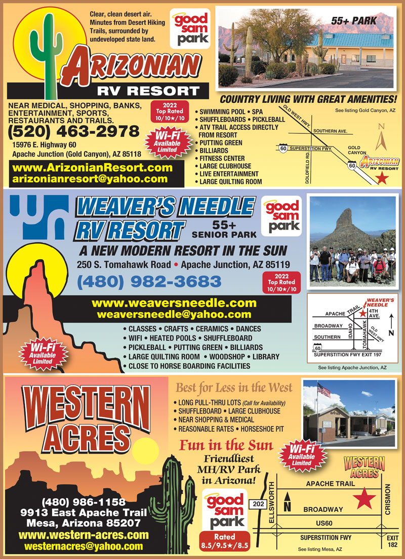 Digital Ad For Weaver S Needle Rv Resort