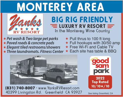 Rv Parks In Monterey California Monterey California
