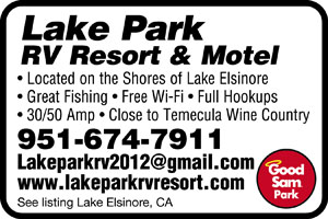 Lake Elsinore California Rv Parks Lake Elsinore