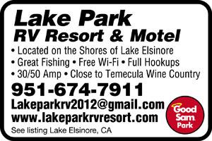 Lake Elsinore California Rv Parks Lake Elsinore