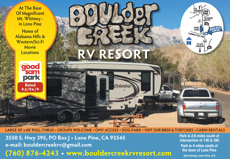 Lone Pine California Rv Parks Lone Pine Campgrounds Rv