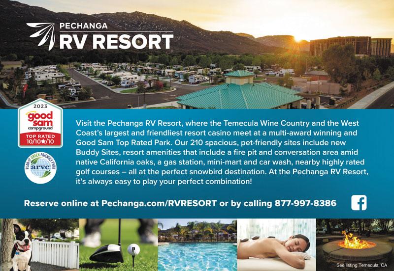 Pechanga Rv Resort Temecula Campgrounds Good Sam Club