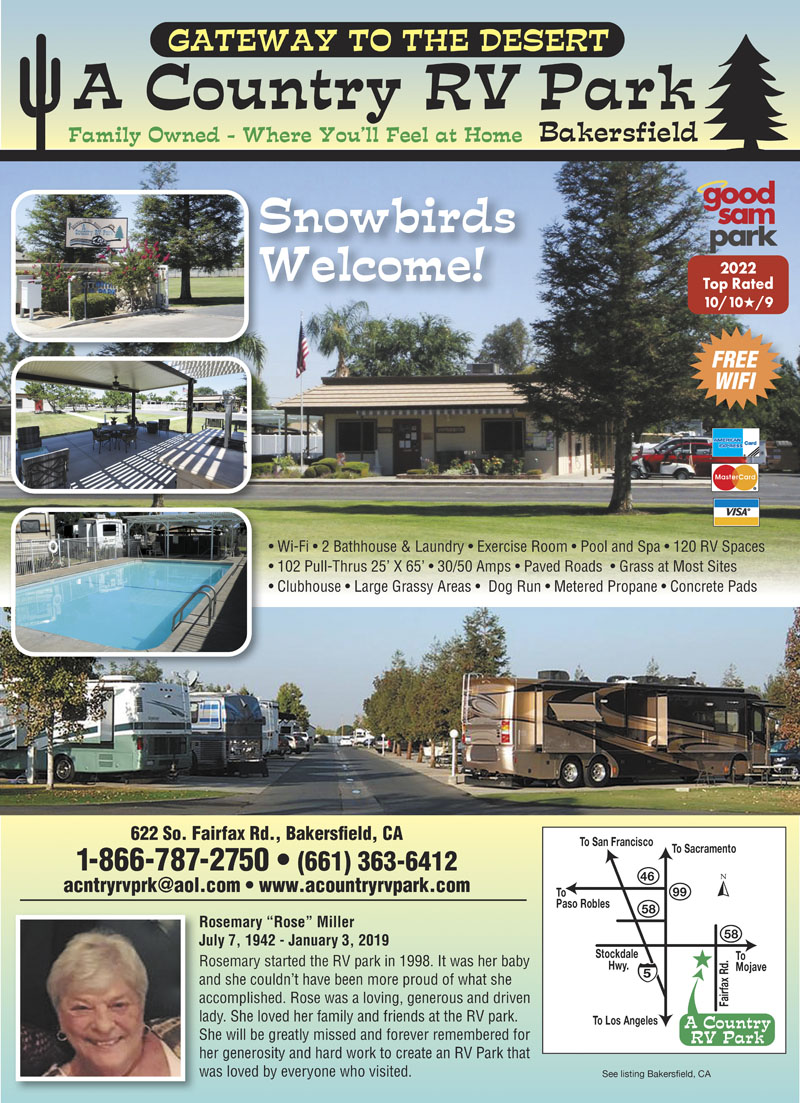 A Country RV Park Bakersfield CA View Website