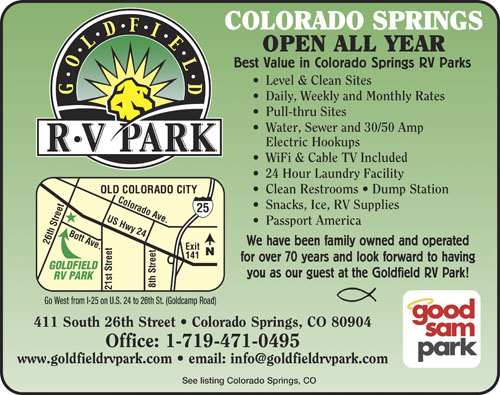 RV Parks in Colorado | Colorado Campgrounds | Good Sam Club