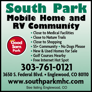 South Park Mobile Home And RV Community Englewood CO
