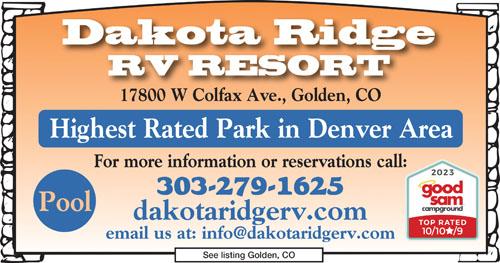 Rv Parks In Colorado Colorado Campgrounds Good Sam Club