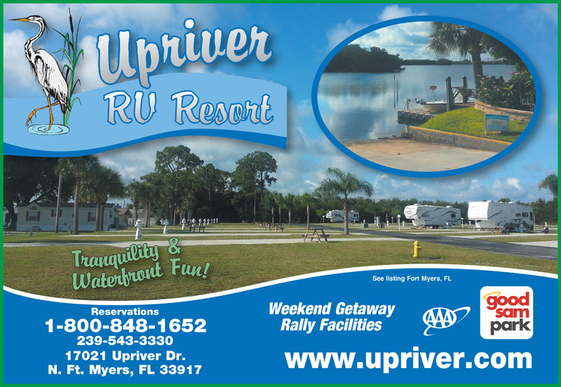Upriver Rv Resort North Fort Myers Fl Aaa Com
