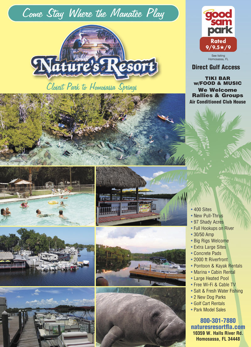 Experience The Magnificent Florida Gulf Coast Environment With Exotic Plants And Animals While Enjoying Affordable Rates On Great RV Tent Sites
