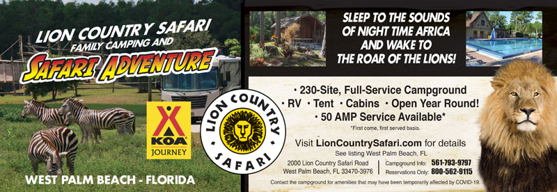 Rv parks in west palm beach florida west palm beach for Lion country safari cabins