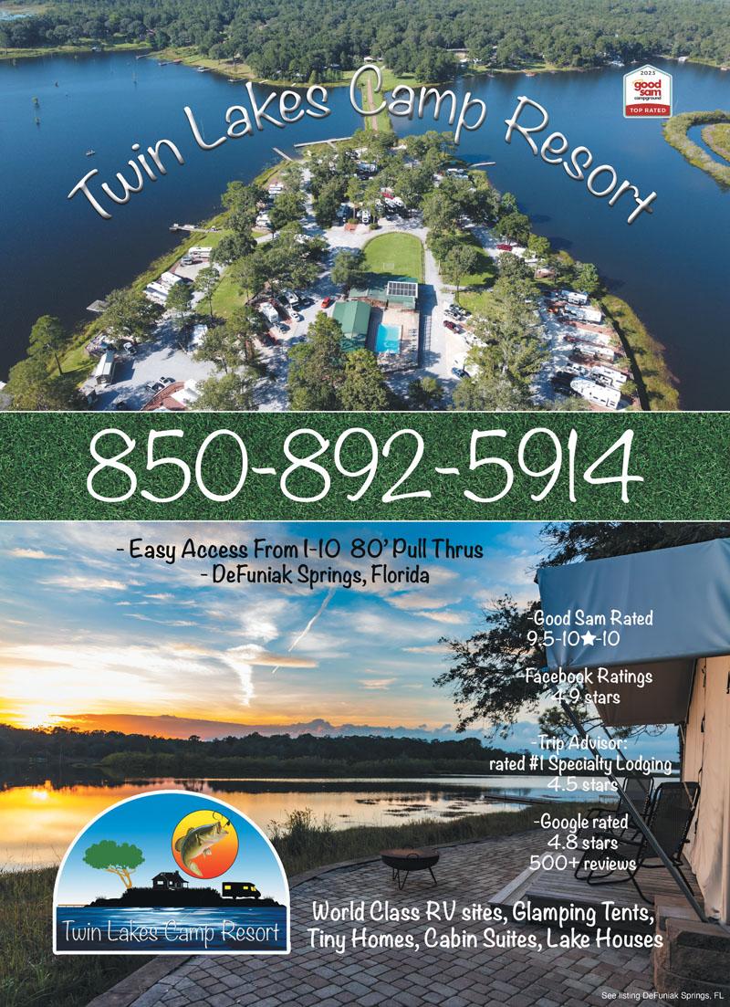 Twin Lakes Rv Resort Defuniak Springs Fl