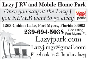 Lazy J RV Mobile Home Park Fort Myers FL