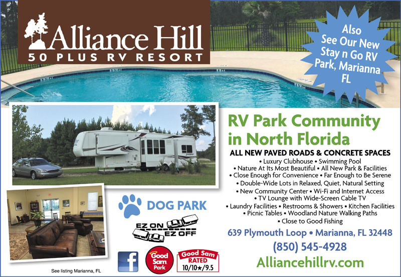 Alliance Hill Rv Resort Marianna Campgrounds Good Sam Club