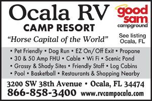 RV Parks in ocala, Florida   ocala, Florida Campgrounds